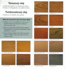 Vzorník terasový olej